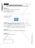 Stationenlernen zum Satz des Pythagoras, mit Memory und Kreuzworträtsel Preview 15