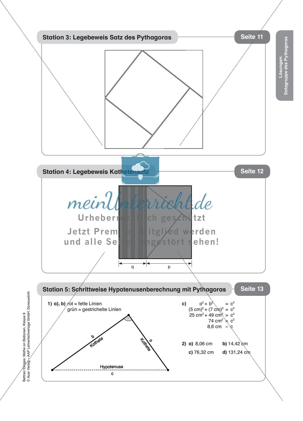 Unique Satz Des Pythagoras In 3d Arbeitsblatt Ideas - Kindergarten ...