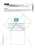 Stationenlernen zum Satz des Pythagoras, mit Memory und Kreuzworträtsel Preview 2