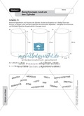 Stationenlernen zu den Eigenschaften von Zylinder und Kegel Preview 8