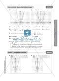 Stationenlernen zum Themenfeld quadratische Funktionen Preview 12