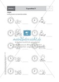 Einführende Aufgaben zum Ablesen analoger Uhren Preview 3