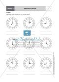 Einführende Aufgaben zum Ablesen analoger Uhren Preview 4