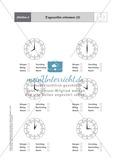 Tageszeiten erkennen und bestimmen mit Hilfe analoger Uhren Preview 2
