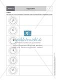 Tageszeiten erkennen und bestimmen mit Hilfe analoger Uhren Preview 3
