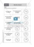 Tageszeiten erkennen und bestimmen mit Hilfe analoger Uhren Preview 4