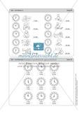 Tageszeiten erkennen und bestimmen mit Hilfe analoger Uhren Preview 6