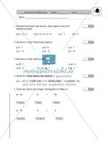 Klassenarbeit zur Punktrechnung Preview 1