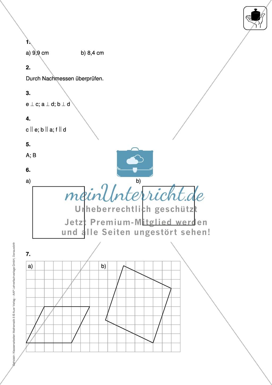 Klassenarbeit zur Geometrie Preview 4