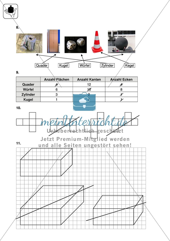 Klassenarbeit zur Geometrie Preview 5