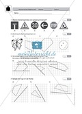 Klassenarbeit oder Lernkontrolle zum Themenfeld Achsensymmetrie und Verschieben Preview 1