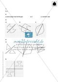 Klassenarbeit oder Lernkontrolle zum Themenfeld Spiegeln und Verschieben Preview 3
