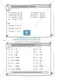 Karteikarten mit Aufgaben aus dem Themenfeld Wurzeln, Quadratzahlen und Potenzen Preview 2
