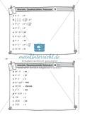 Karteikarten mit Aufgaben aus dem Themenfeld Wurzeln, Quadratzahlen und Potenzen Preview 4