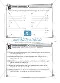 Karteikarten mit Aufgaben aus dem Themenfeld lineare Gleichungen, zur Selbstkontrolle Preview 1