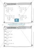 Karteikarten mit Aufgaben aus dem Themenfeld lineare Gleichungen, zur Selbstkontrolle Preview 2