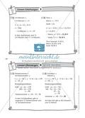 Karteikarten mit Aufgaben aus dem Themenfeld lineare Gleichungen, zur Selbstkontrolle Preview 4