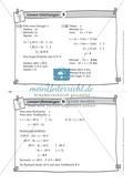 Karteikarten mit Aufgaben aus dem Themenfeld lineare Gleichungen, zur Selbstkontrolle Preview 6