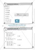 Aufgaben auf Karteikarten aus dem Themenfeld quadratische Funktionen, zur Selbstkontrolle Preview 2