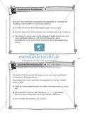 Aufgaben auf Karteikarten aus dem Themenfeld quadratische Funktionen, zur Selbstkontrolle Preview 3