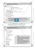 Aufgaben auf Karteikarten aus dem Themenfeld quadratische Funktionen, zur Selbstkontrolle Preview 4