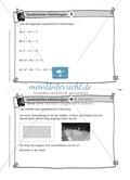 Karteikarten mit Aufgaben aus dem Themenbereich quadratische Gleichungen, zur Selbstkontrolle Preview 3