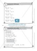 Karteikarten mit Aufgaben aus dem Themenbereich quadratische Gleichungen, zur Selbstkontrolle Preview 4