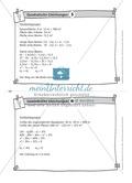 Karteikarten mit Aufgaben aus dem Themenbereich quadratische Gleichungen, zur Selbstkontrolle Preview 6