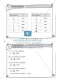 Aufgaben auf Karteikarten aus dem Themenfeld Prozentrechnen, zur Selbstkontrolle Preview 2