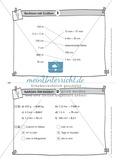 Kopfrechenaufgaben mit Größen auf Karteikarten zur Selbstkontrolle Preview 2