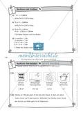Kopfrechenaufgaben mit Größen auf Karteikarten zur Selbstkontrolle Preview 6