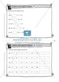 Aufgaben auf Karteikarten aus dem Themenfeld positive und negative Zahlen, zur Selbstkontrolle Preview 3