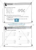 Übungsaufgaben auf Karteikarten aus dem Themenfeld Gleichungen, zur Selbstkontrolle Preview 1