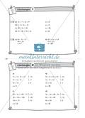Übungsaufgaben auf Karteikarten aus dem Themenfeld Gleichungen, zur Selbstkontrolle Preview 2