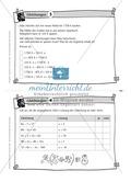 Übungsaufgaben auf Karteikarten aus dem Themenfeld Gleichungen, zur Selbstkontrolle Preview 3