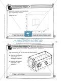 Übungsaufgaben auf Karteikarten aus dem Themenfeld geometrische Körper, zur Selbstkontrolle Preview 1