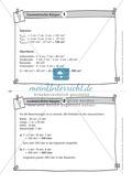 Übungsaufgaben auf Karteikarten aus dem Themenfeld geometrische Körper, zur Selbstkontrolle Preview 2