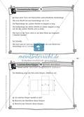 Übungsaufgaben auf Karteikarten aus dem Themenfeld geometrische Körper, zur Selbstkontrolle Preview 3