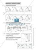 Mathematik, Raum & Form, Körperberechnung, Oberfläche, Kegel, Pyramide, Volumen
