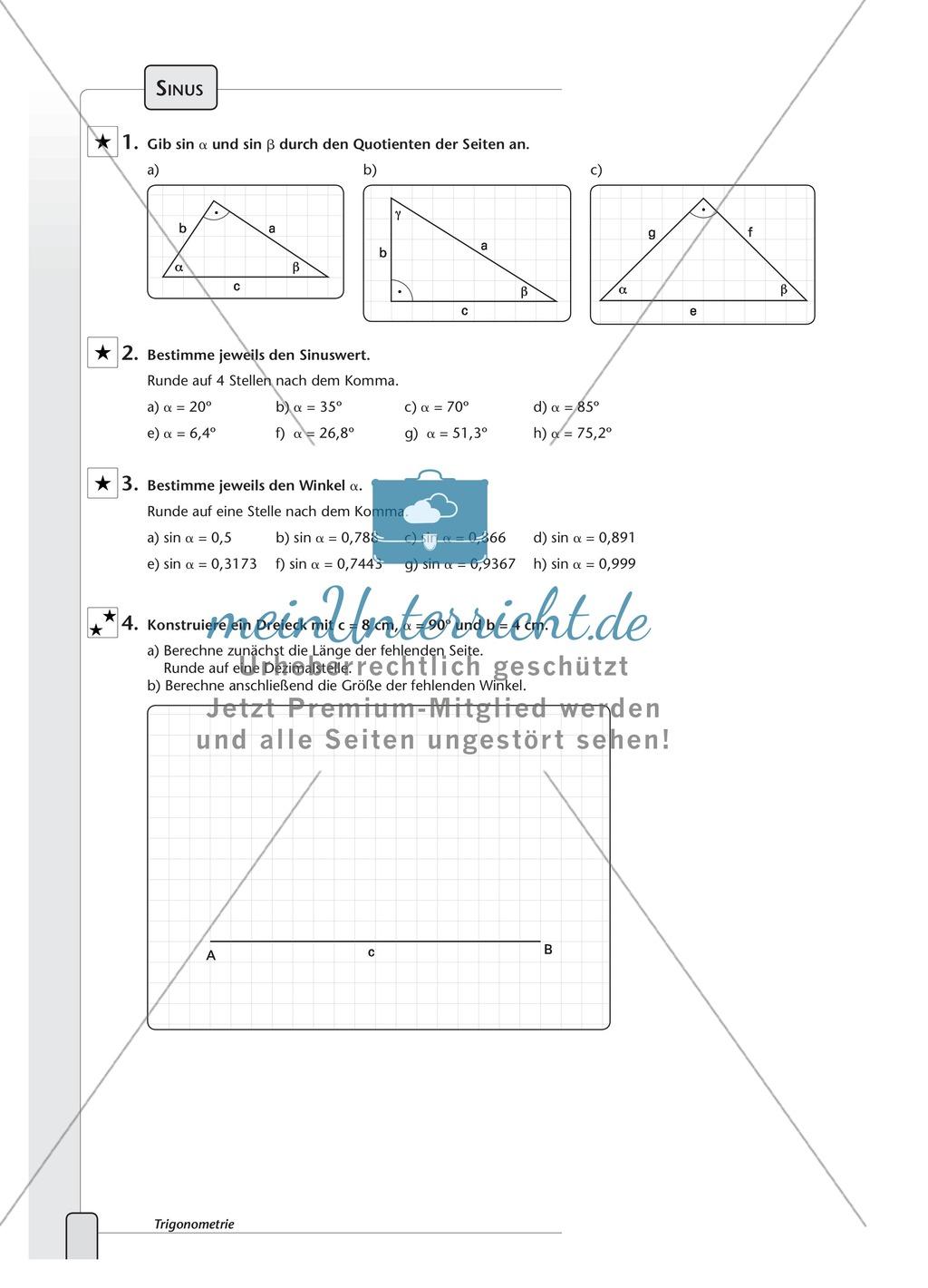 Vermischte Aufgaben zur den trigonometrischen Formeln - meinUnterricht