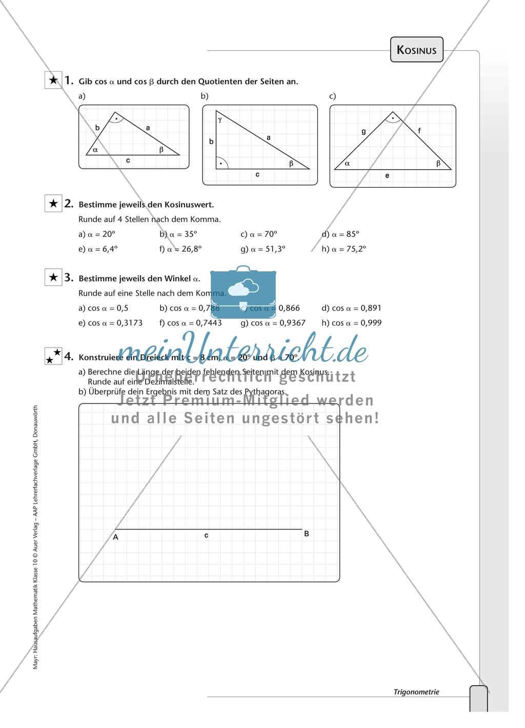Atemberaubend Trigonometrie Beweise Arbeitsblatt Fotos - Super ...