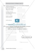 Aufgaben zur Normalparabel und Bestimmung der Funktionsgleichungen von Parabeln Preview 4
