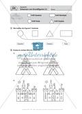 Basale geometrische Übungen mit Aufgaben zum Nachzeichnen Preview 5