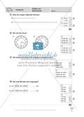 Uhrzeiten bestimmen und mit Uhrzeiten Rechnen Preview 1