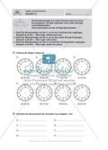 Uhrzeiten bestimmen und mit Uhrzeiten Rechnen Preview 2