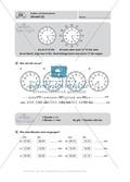 Uhrzeiten bestimmen und mit Uhrzeiten Rechnen Preview 3