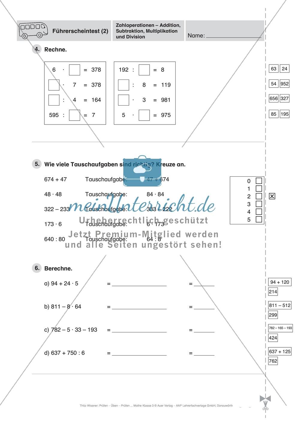 arbeitsblatt vorschule 187 mathe klasse 3 subtraktion bis