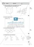 Aufgaben zu parallelen Strecken, rechten Winkeln, Kreisen und Würfelnetze Preview 1