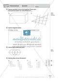 Aufgaben zu parallelen Strecken, rechten Winkeln, Kreisen und Würfelnetze Preview 2