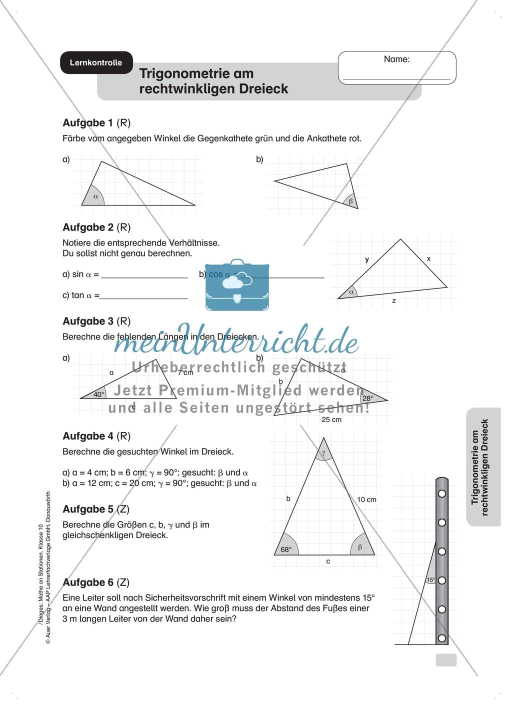 Stationenlernen: Trigonometrie - meinUnterricht